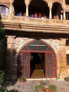 Entrance to Maharaja residence Jaisalmer