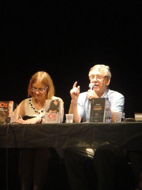 Amos Oz si Denisa Comanescu la Tel Aviv