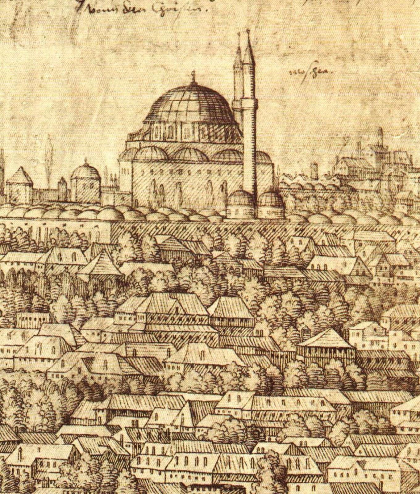 Istanbului desenat de Melchior Lorck - sursa http://t24.com.tr/haber/kanuni-doneminde-bir-seyyah-ressam-melchior-lorck,125296