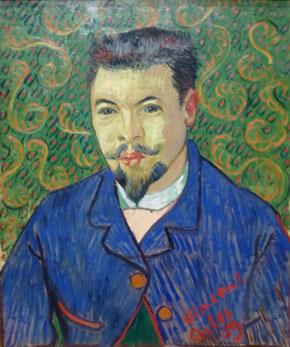 Vincent van Gogh, Portrait du docteur Rey, Arles début janvier 1889, huile sur toile, Coll. S. Chtchoukine, 1908, musée Pouchkine source http://www.evous.fr/Exposition-de-la-collection-Chtchoukine-1190794.html