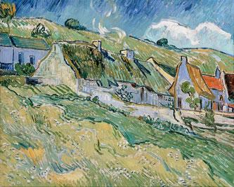 Van Gogh : Chaumières à Auvers/Oise (1890), musée de l'Ermitage source http://www.evous.fr/Exposition-de-la-collection-Chtchoukine-1190794.html