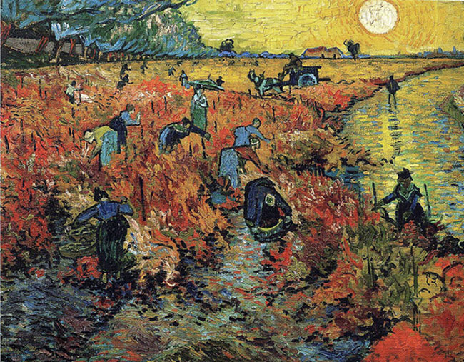 Van Gogh : La Vigne rouge (1888), musée Pouchkine source http://www.evous.fr/Exposition-de-la-collection-Chtchoukine-1190794.html