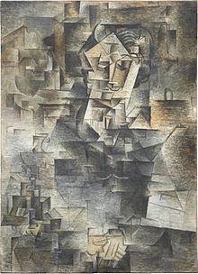 Pablo Picasso, 1910, Portrait of Daniel-Henry Kahnweiler; sursa https://en.wikipedia.org/wiki/Daniel-Henry_Kahnweiler