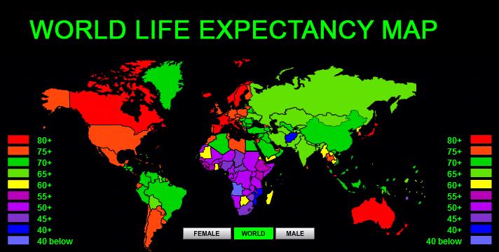 sursa imaginii http://www.worldlifeexpectancy.com/world-life-expectancy-map